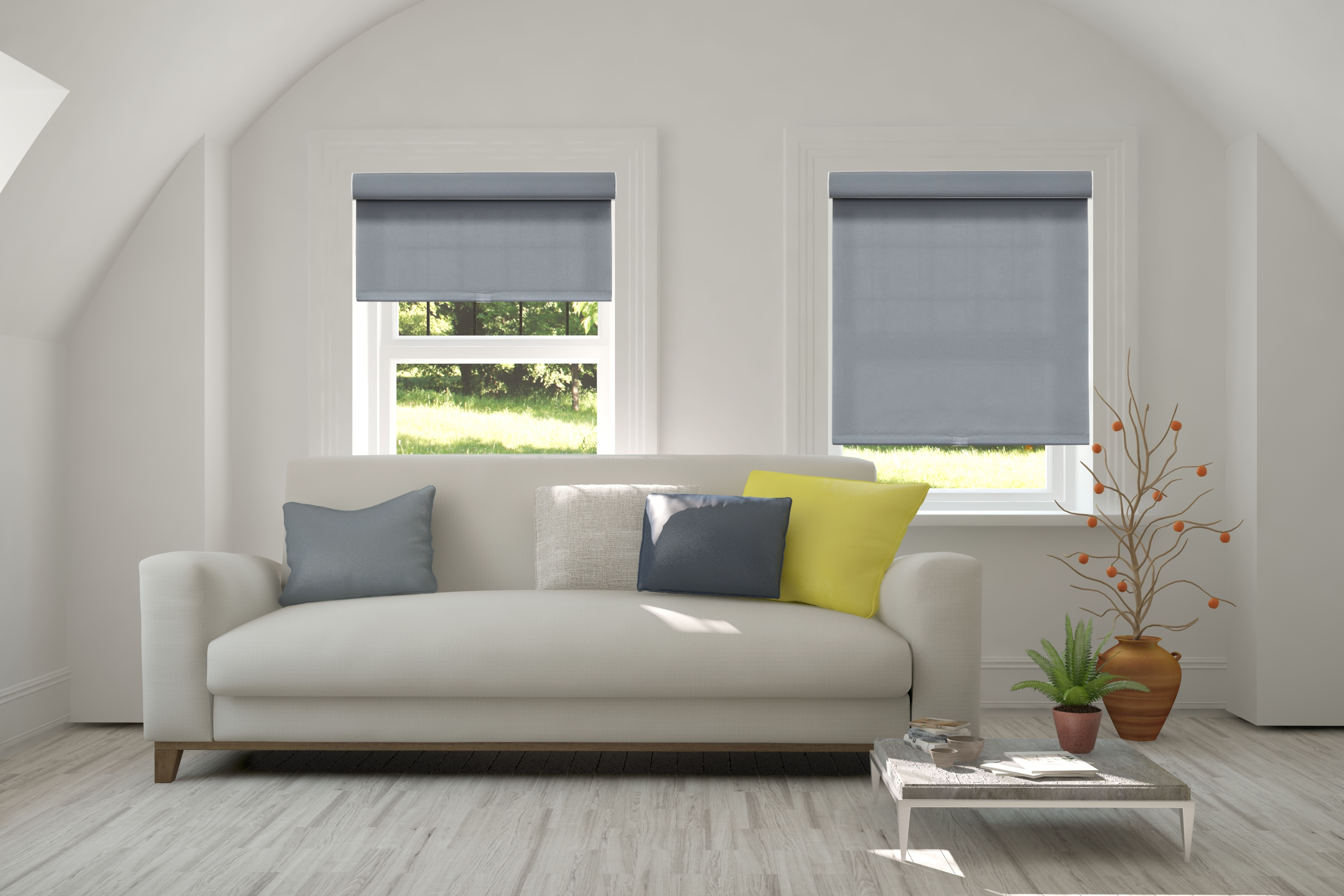 Outside In How To Mount Roller Shades To Achieve Different Looks Chic Blog Home Page